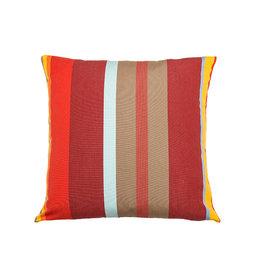 Kreatelier Summer Stripes Pillow in Reds 18 x 18in