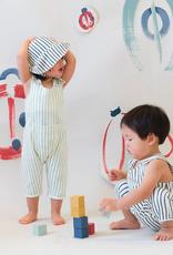Pehr Designs Organic Bucket Hat Stripes Away Ink Blue 6-12M