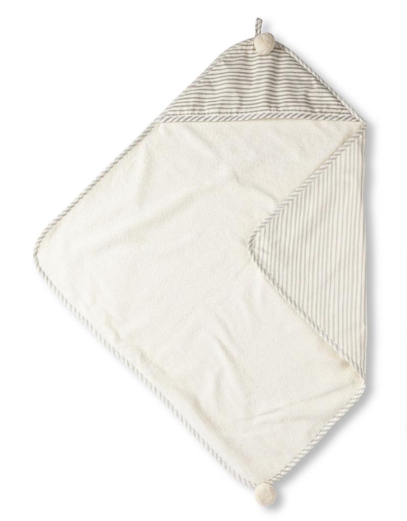 Pehr Designs Hooded Towel Stripes Away Grey