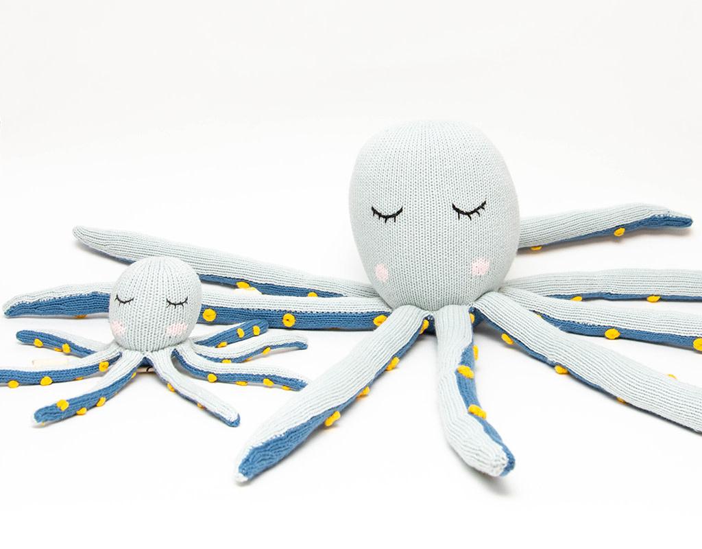 Knitabuddy Rattle Arlo The Octopus