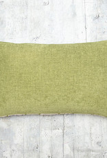 Kreatelier Embroidered Pillow in Green 14 x 22in