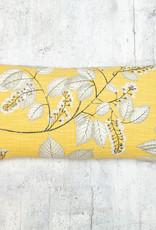 Kreatelier Leaves Grey & Yellow Pillow 10 x 20in