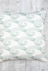 Kreatelier Pillow Spiral Tide in Mint 18 x 18in