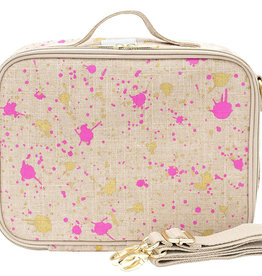 So Young Lunch Box Fuchsia and Gold Splatter
