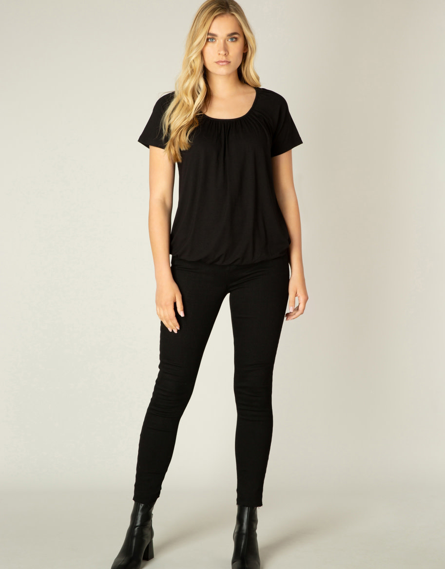 Yest Yona Jersey Shirt in Black