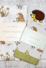 Little Blue Nest Bundle Hedgehog Muslin & Comforter