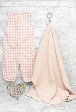 Kreatelier Bundle Pink Blanket & Checkmate Romper 3-6M