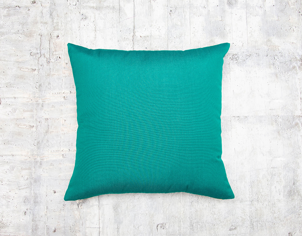 Kreatelier Summer Stripes Pillow in Green and Blue 18 x 18in