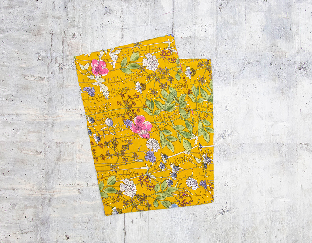 Make Ends Meet Scarf Infinity Floral Yellow