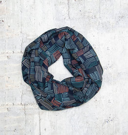 Make Ends Meet Scarf Infinity Graphic Navy