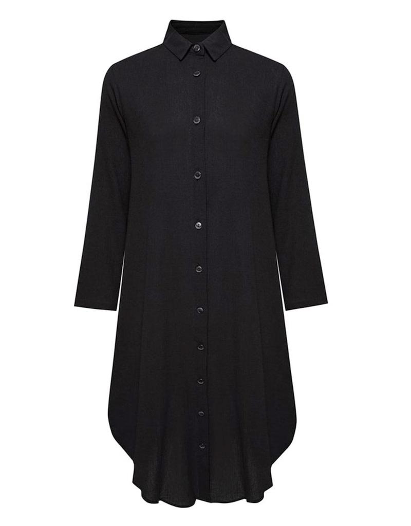 Secret Language Della Shirt Dress Black