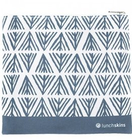 Lunchskins Reusable Sandwich Bag Geometric Blue (Zippered)