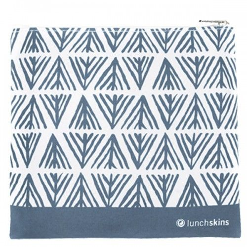 Reusable Sandwich Bag Blue Geometric Zippered
