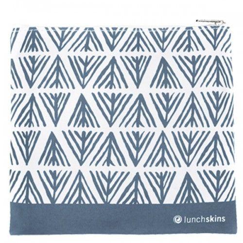 Lunchskins Reusable Sandwich Bag Geometric Blue (Zippered)