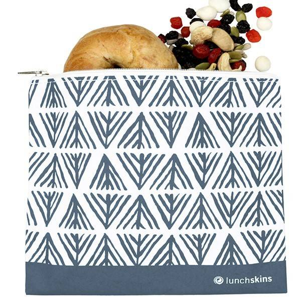 3greenmoms Reusable Sandwich Bag Blue Geometric (Zippered)