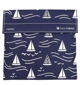 3greenmoms Reusable Sandwich Bag Navy Boat (Velcro)