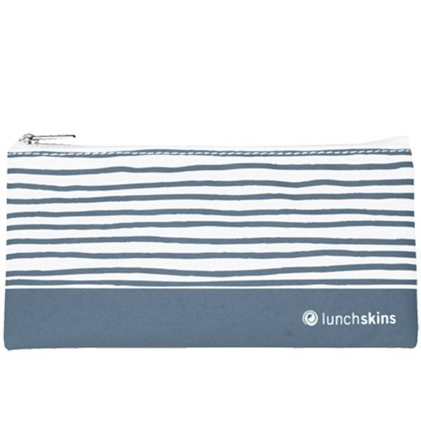 Lunchskins Reusable Snack Bag Geometric Blue (Zippered)