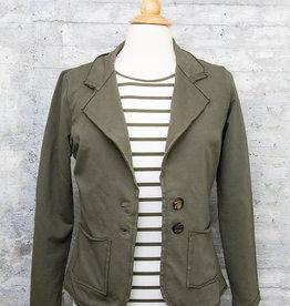 Zenara Short Blazer Military Green