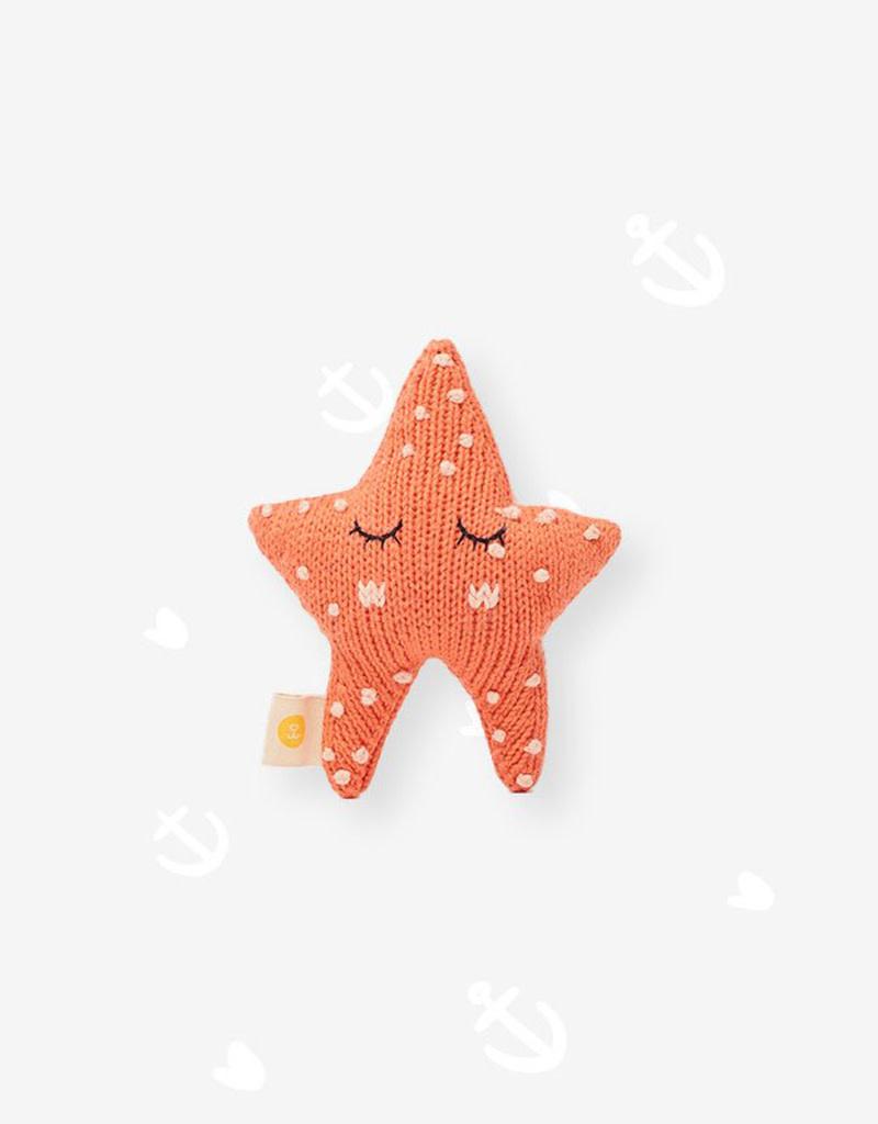 Knitabuddy Rattle Peach The Starfish