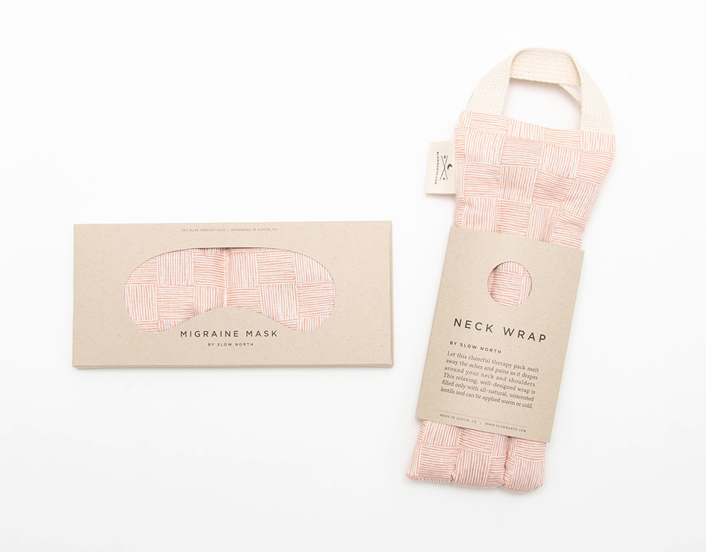 Slow North Neck Wrap Therapy Pack Pink Pampas