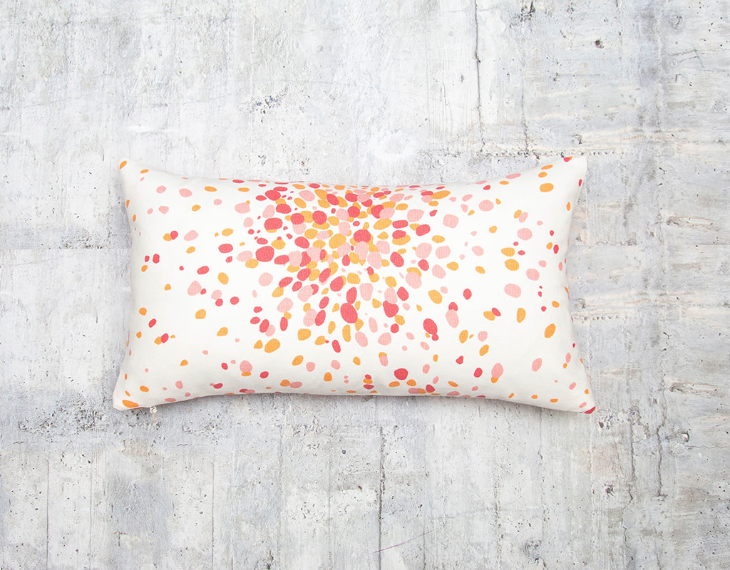 Kreatelier Jelly Bean Pink Lemonade Pillow 10 x 18in