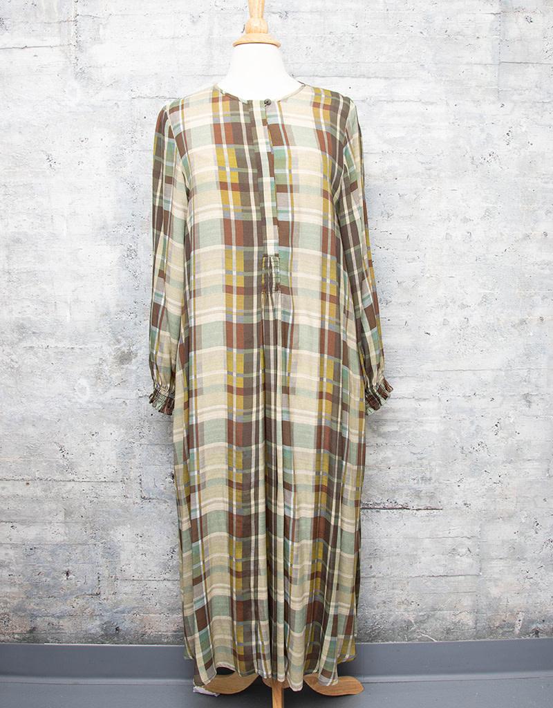 Q-Neel Dress Fall Plaid