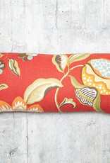 Kreatelier Floral Red Pillow 9 x 20in