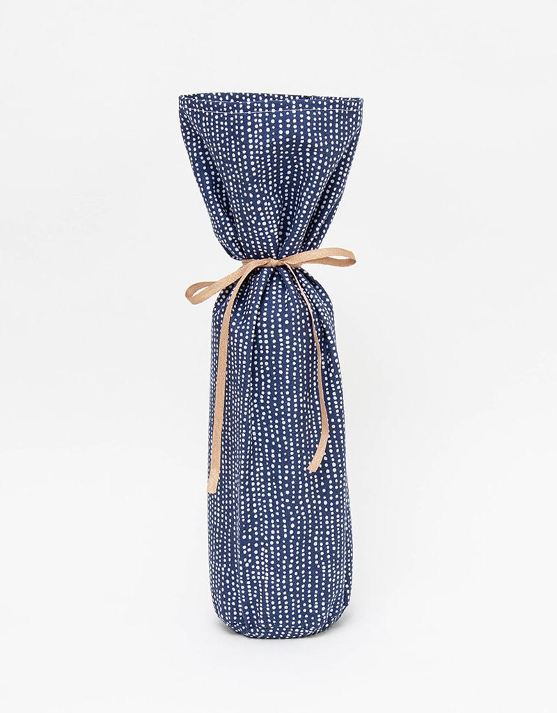 Kreatelier Bottle Gift Bag Blue & White Dots