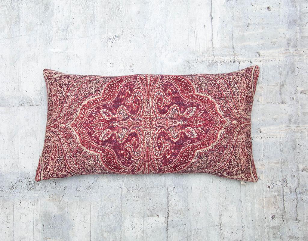 Kreatelier Karma Black Cherry Pillow 10 x 18in