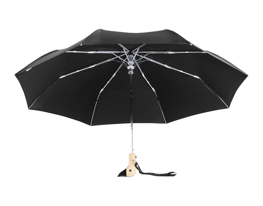 Original Duckhead Black Compact Umbrella