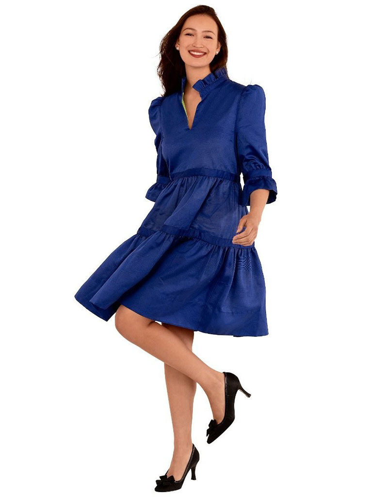 Gretchen Scott Ultra Suede Teardrop Dress Navy