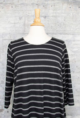 Q-Neel Striped Dress Black & Grey
