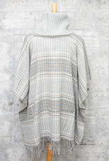 Fraas Tweed Cowl Neck Poncho Silver