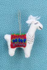 The Winding Road Llama Ornament Red