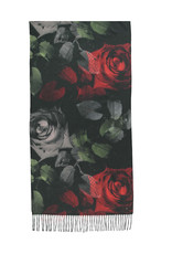 Fraas Scarf Digital Roses Classic Red