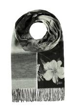 Fraas Scarf Garden Floral Black/White