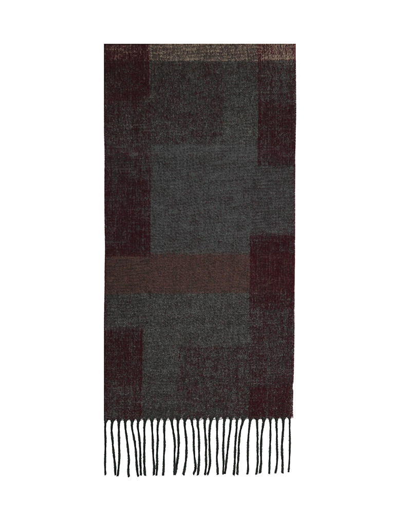 Fraas Scarf Abstract Colorblock Wine