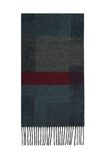 Fraas Scarf Abstract Colorblock Navy
