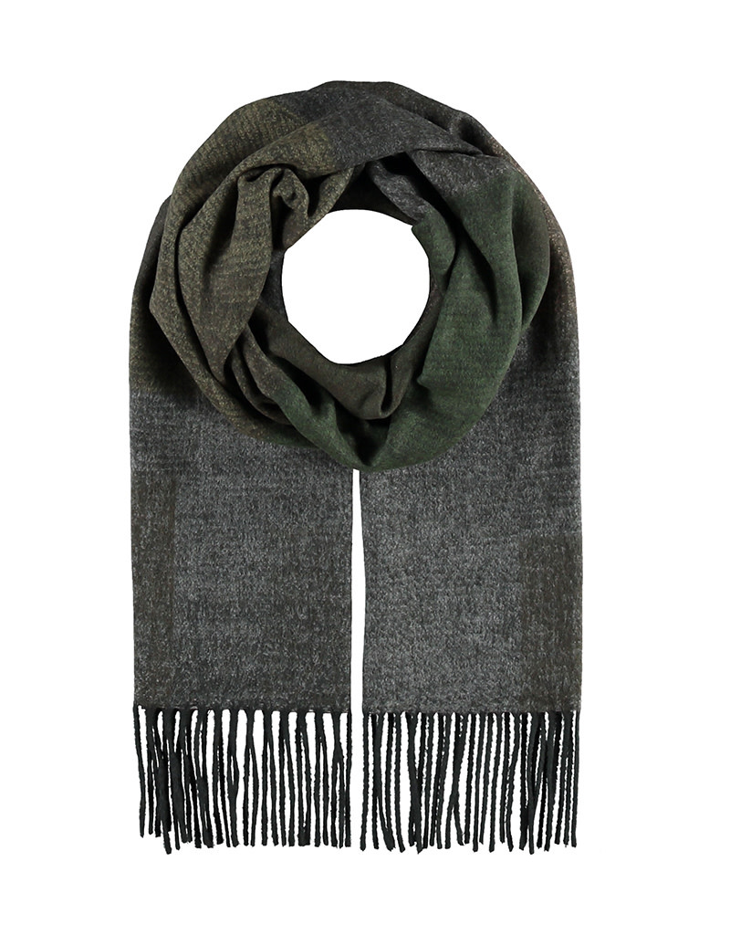 Fraas Scarf Abstract Colorblock Dark Olive