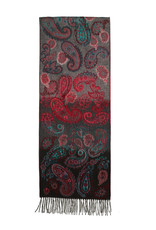 Fraas Scarf Paisley Ombre Cashmink Turquoise