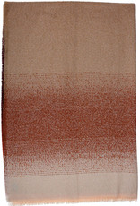 Fraas Ombre Boucle Throw Orange