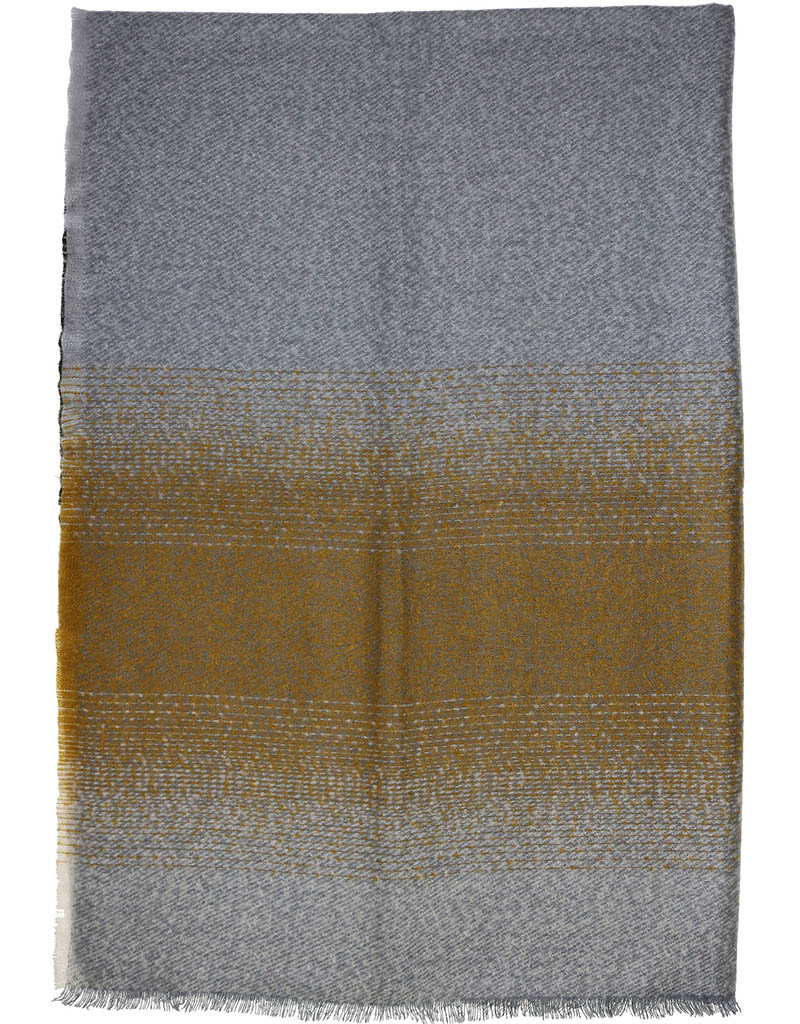 Fraas Ombre Boucle Throw Mid Grey