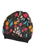 Tey-Art Calli Alpaca Floral Hat Charcoal