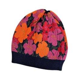 Tey-Art Nova Alpaca Floral Hat Navy