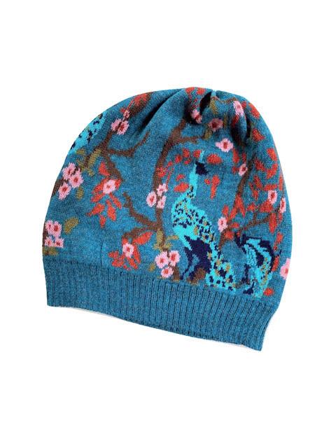 Tey-Art Aryn Alpaca Floral Hat Teal