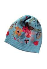 Tey-Art Turquesa Alpaca Floral Hat  Aqua