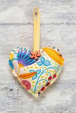 Kreatelier Fabric Heart Ornament Meadow Cream