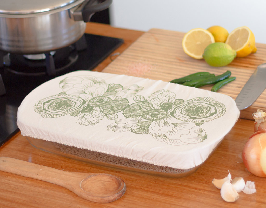 Halo Dish and Casserole Cover Edible Flowers Square