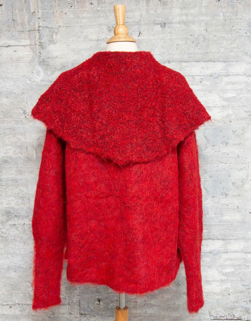 Tey-Art Michelle Boucle Crimson Red OS