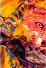 Powder Design Satin Print General Fox Square
